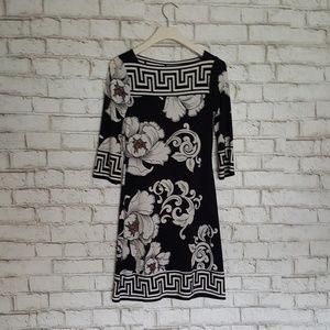 White House Black Market Floral Cling Dress